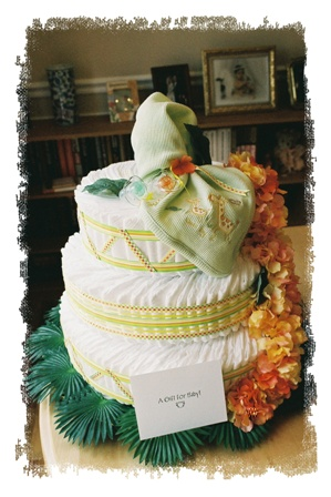 This is a diaper cake I made.